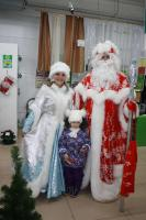 """Дед мороз в магазинах """"Моя Родня""""."""